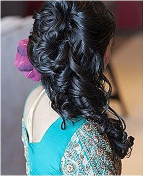 Coiled Curled Curling Half Up Half Down Hairstyle