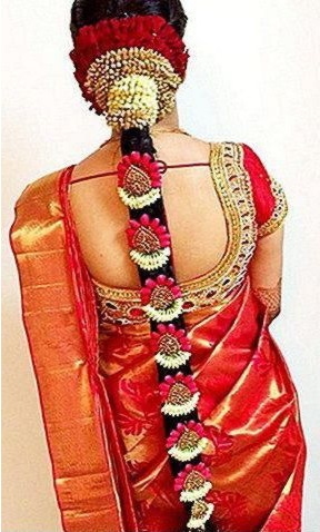 Perfect Indian Wedding Hairstyles With Flowers