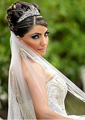 Wispy Banged Christian Bridal Style With Back Nest