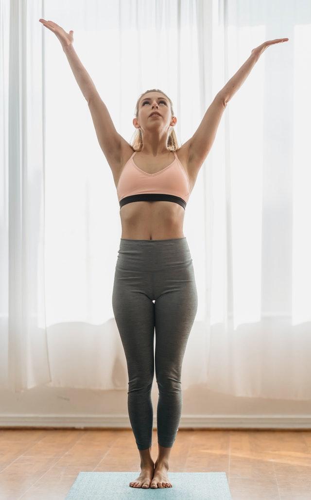 Tadasana Yoga For Slim Waist And Flat Stomach