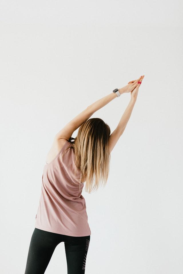 Urdhva hastasana. Yoga For Slim Waist And Flat Stomach
