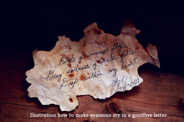 how to make someone cry in a goodbye letter