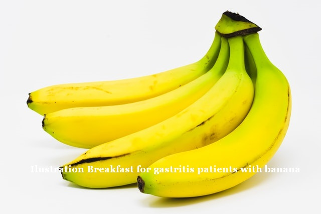 Breakfast for gastritis patients with banana