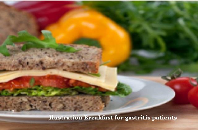 Breakfast for gastritis patients