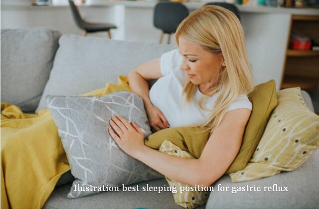 best sleeping position for gastric reflux
