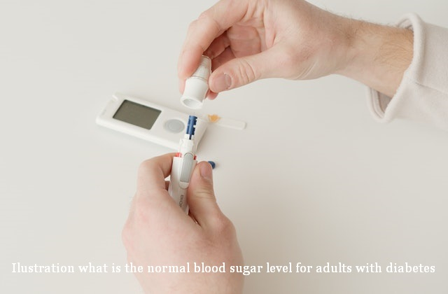 what is the normal blood sugar level for adults with diabetes